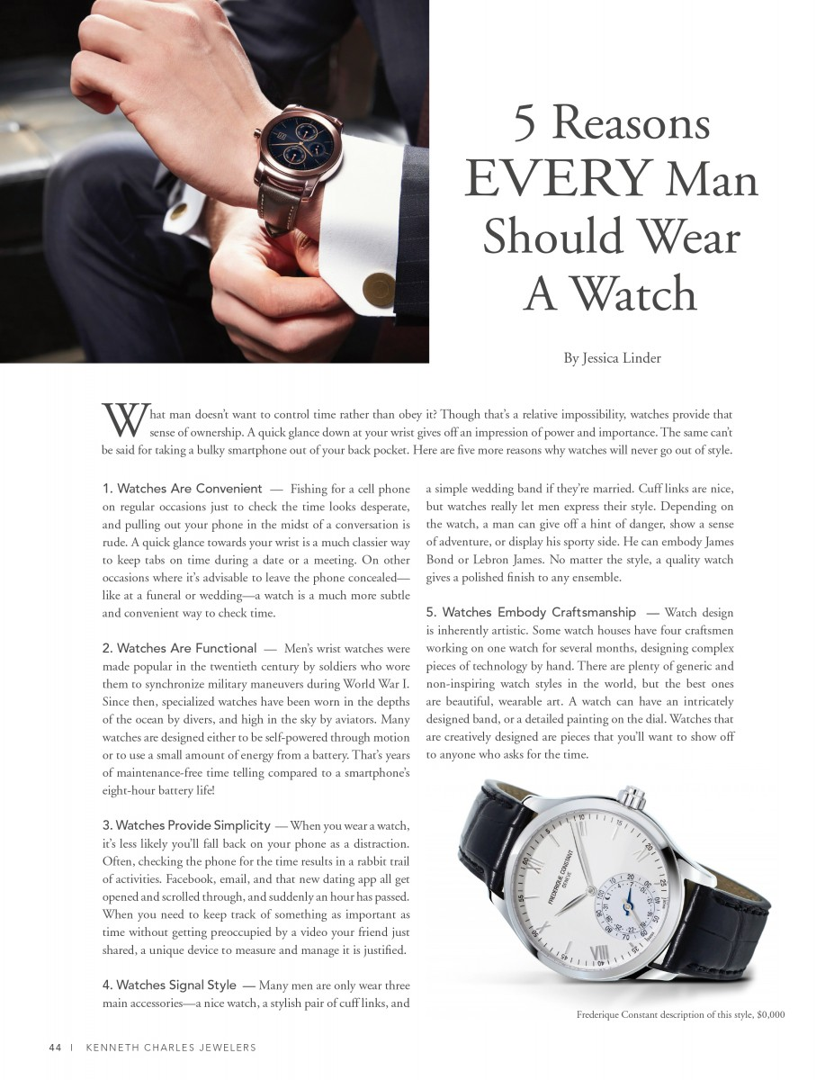 5 Reasons Every Man Should Wear a Watch